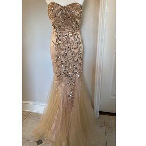 Jovani Strapless Evening Gown